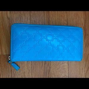 Comme des Garçon leather embossed zip wallet